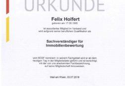 Mitgliedsurkunde Bundesverband